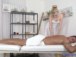 Erotic massage leads to flawless sex increased by cum exceeding face