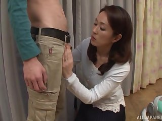 Wifey Shizuka Akiyama loves blowing his dick and swallowing cum